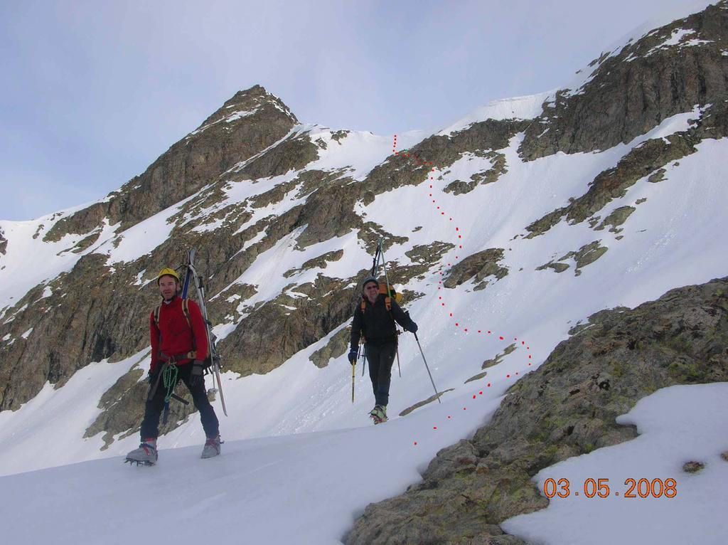 La discesa dal Colle Clapier durante la salita al Monte Clapier