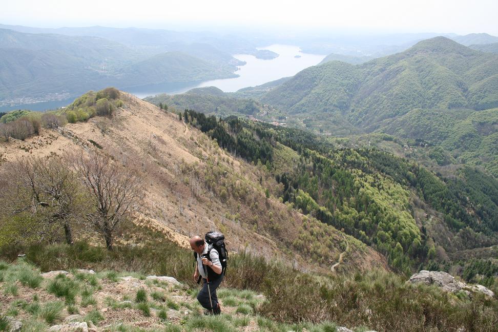 quasi in cima, gran panorama sul Lago d'Orta