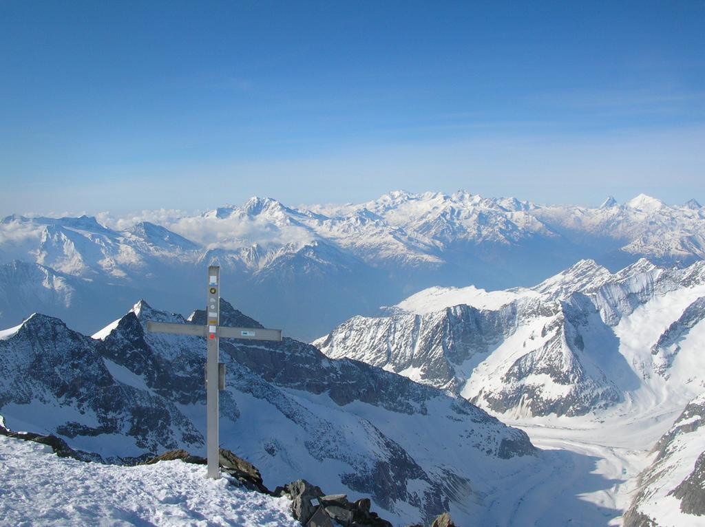 Le montagne del  Vallese dalla cima
