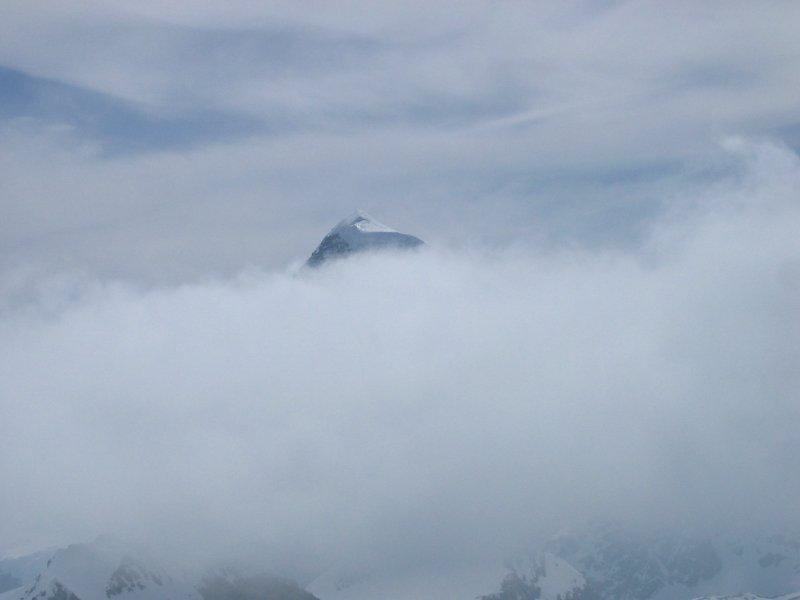 Il Breitorn tra le nuvole...