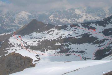 I tracciati del falinere visti dalla cresta
