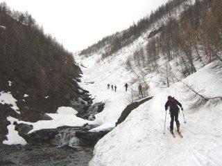 le condizioni della neve alla partenza