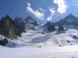 itinerario dal ghiacciaio sottostante