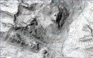 mappa al 15.000 della parte alta della gitadettaglia