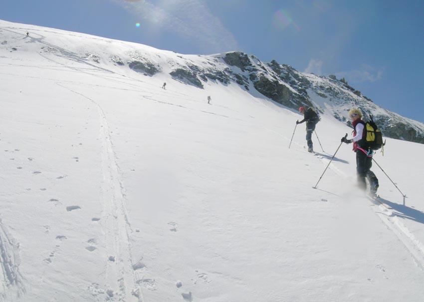 ghiacciaio Lamet, pendii superiori
