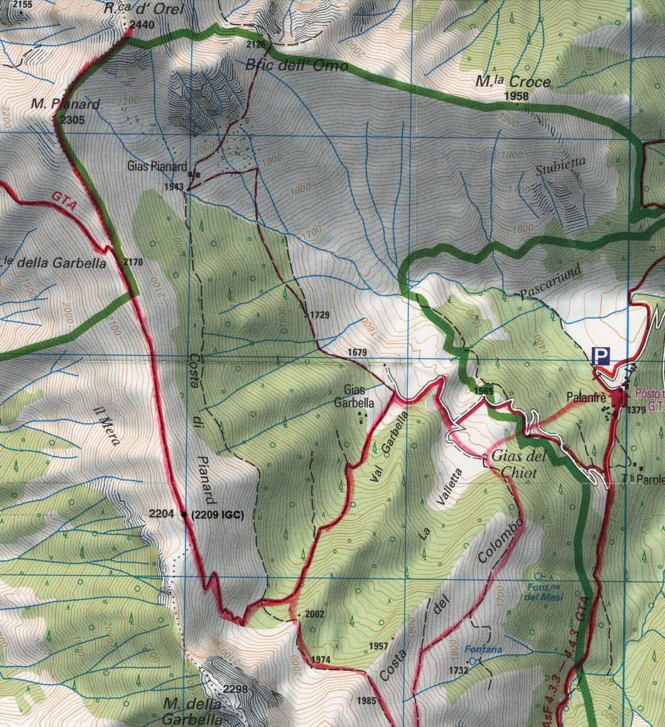 posizione q. 2209 IGC (2204 alpi senza frontiere)