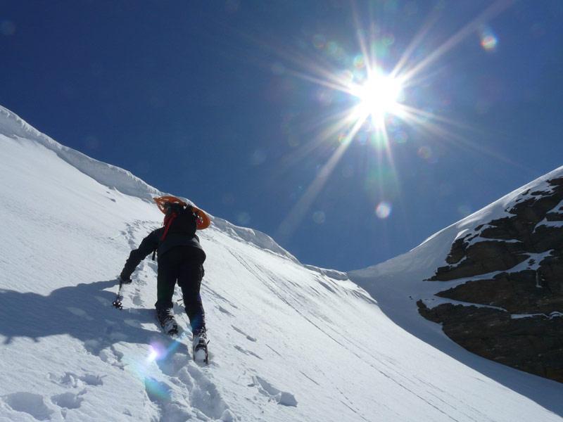 il breve tratto alpinistico