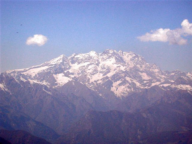 Monte Rosa dal Bec d'Ovaga