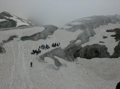 Le condizioni del ghiacciaio