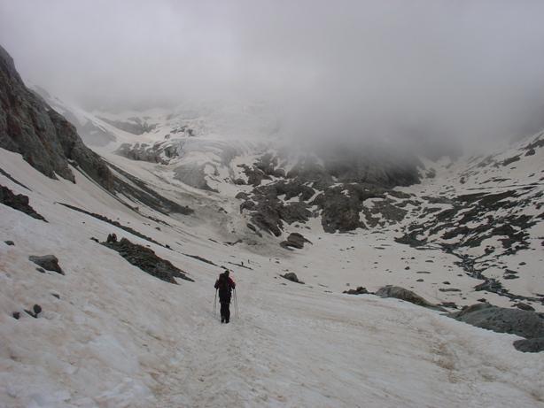 in vista del ghiacciaio