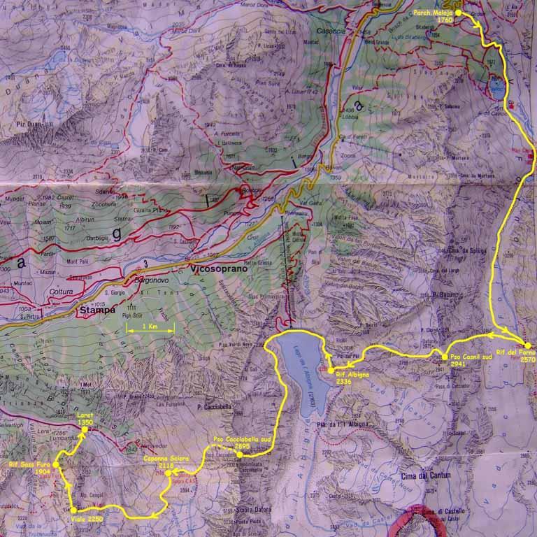 Trekking della Val Bregaglia
