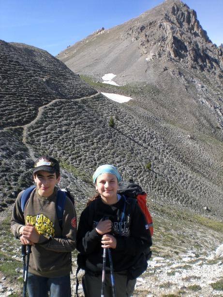 Mitici Andrea e Cecilia con la vetta conquistata, notare... cielo sereno!