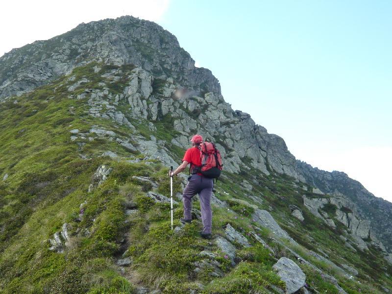 la cresta verso il monte bellavarda