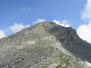 La cresta verso la vetta