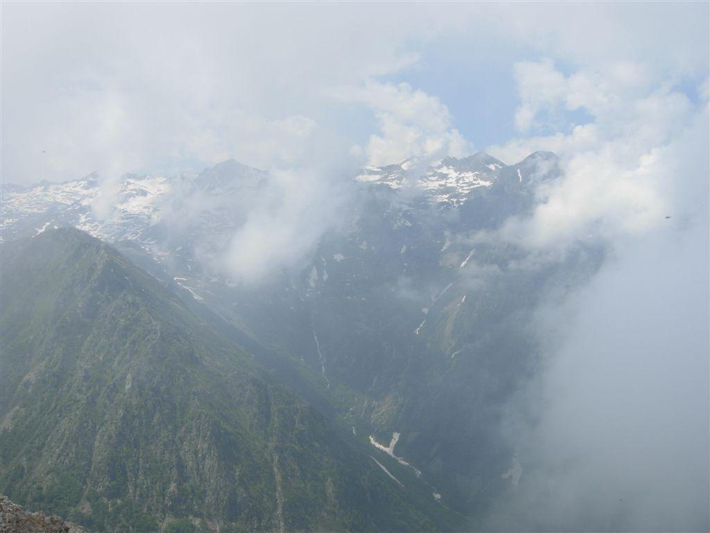 Panorama verso l'alto Vallone del Sabbione