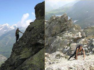 alcuni momenti di arrampicata