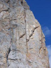 L'incredibile fessura-camino di Corvo Nero