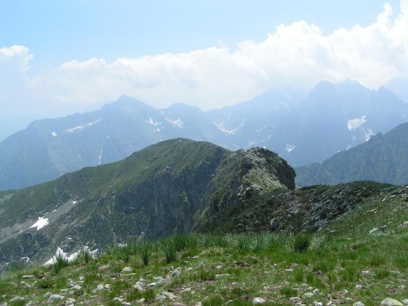 La cresta di discesa vista dal Bourel
