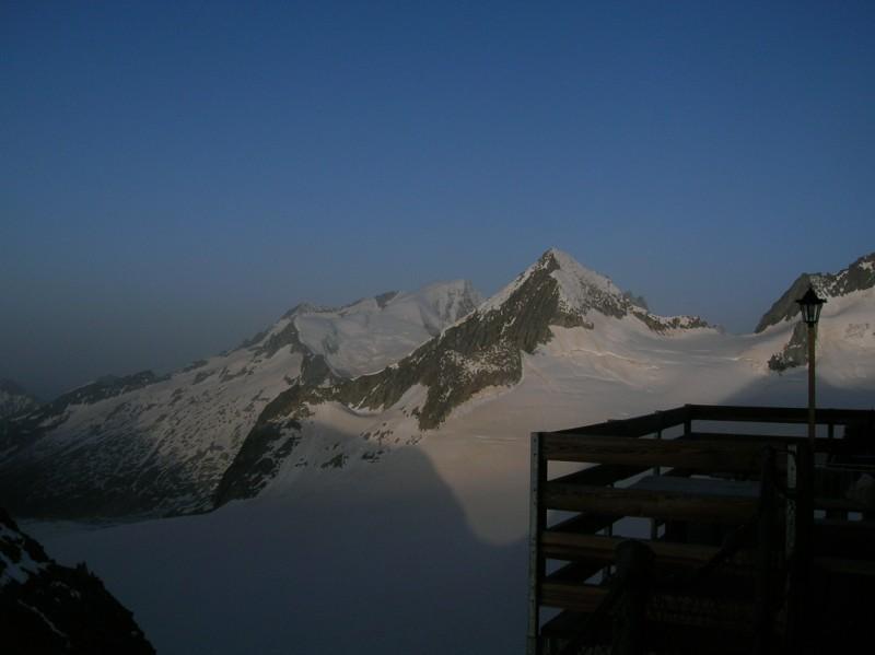 alba dall'Oberaarjochhutte