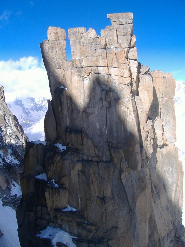 il trident visto dalla cima della chandelle