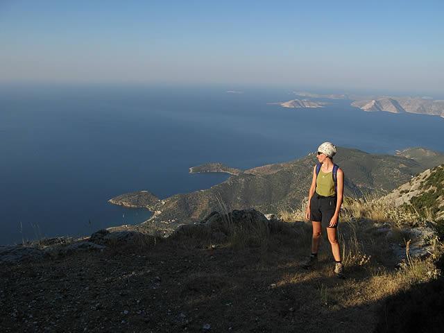 La costa sud-ovest di Samos e l'arcipelago di Fourni