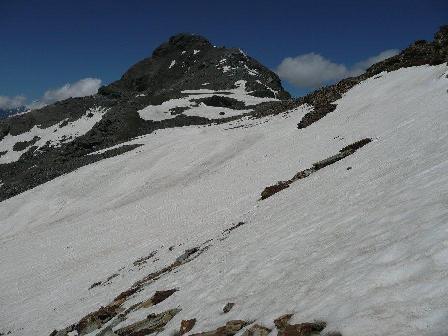 Testa Grigia scendendo da Punta Pinter.