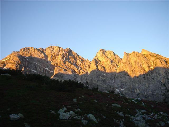 Tramonto sul Marguareis visto dal Rifugio Gareli