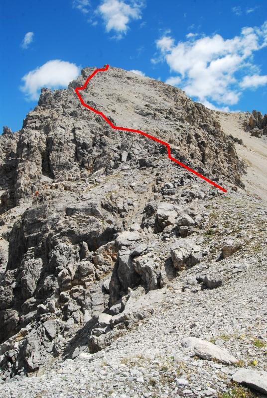 Cresta dei Rochers Charnier dal Colle dei 3 Freres Mineurs