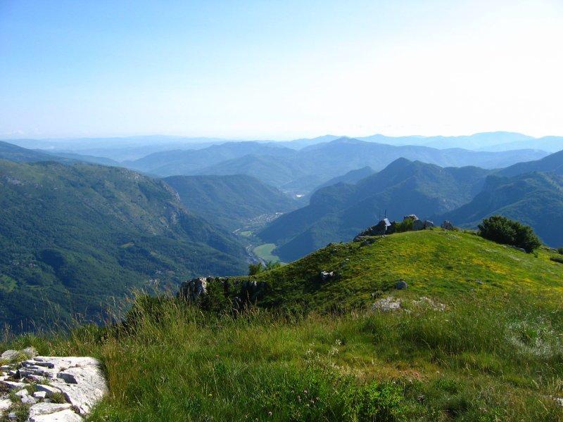La val Tanaro dalla cima