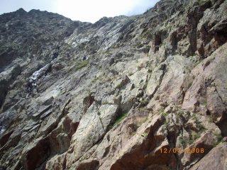 la parte di facile arrampicata