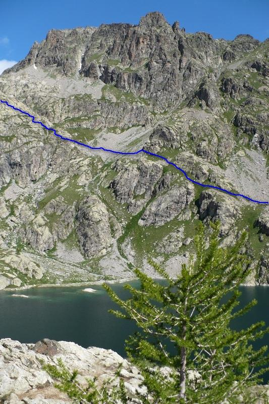 Lac Vert - in blu itinerario vs Lac Gelè