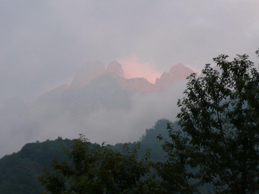 Da in La Piana, tramonto verso il Pedum.