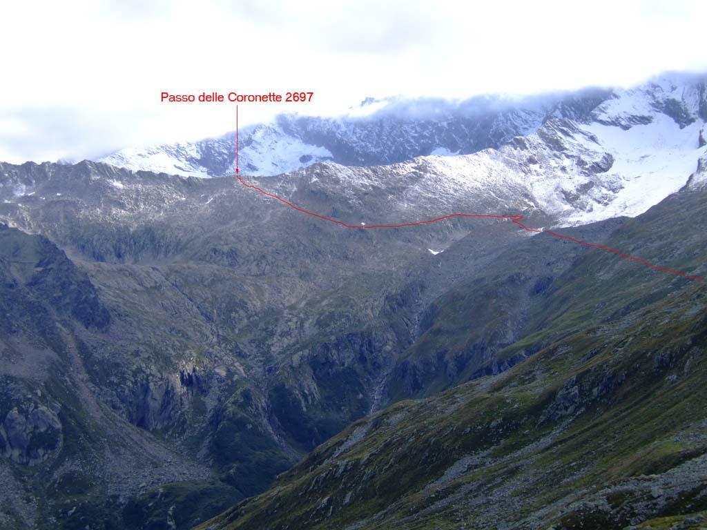 percorso dal ghiacciaio del bottarello