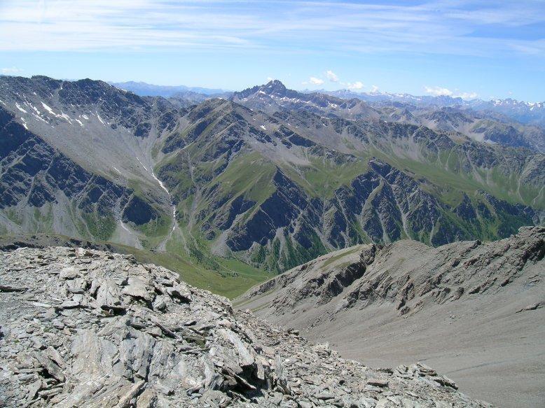 Il Pic de Rochebrune visto dalla Punta Clapiera Settentrionale