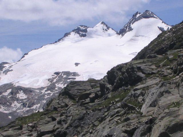 Il ghiacciaio e il Mont Chateau Blanc