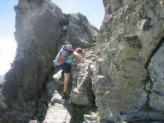 Marina in arrampicata di II