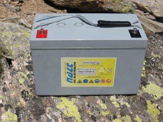 La batteria per auto, riscontrata sulla cresta sud-est del M. Unghiasse