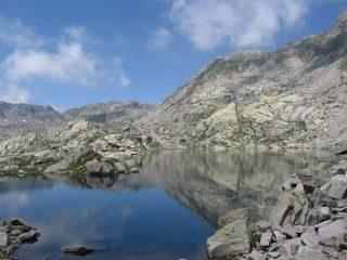 Il Gran Lago e la via di risalita per la discesa a Ceresole