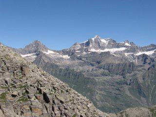 Panorama su Ciarforon e Gran Paradiso