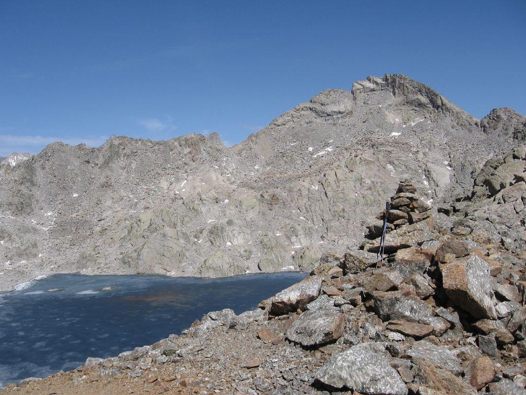 Dal Passo di Lago Gelato, lago e Punta Gialin