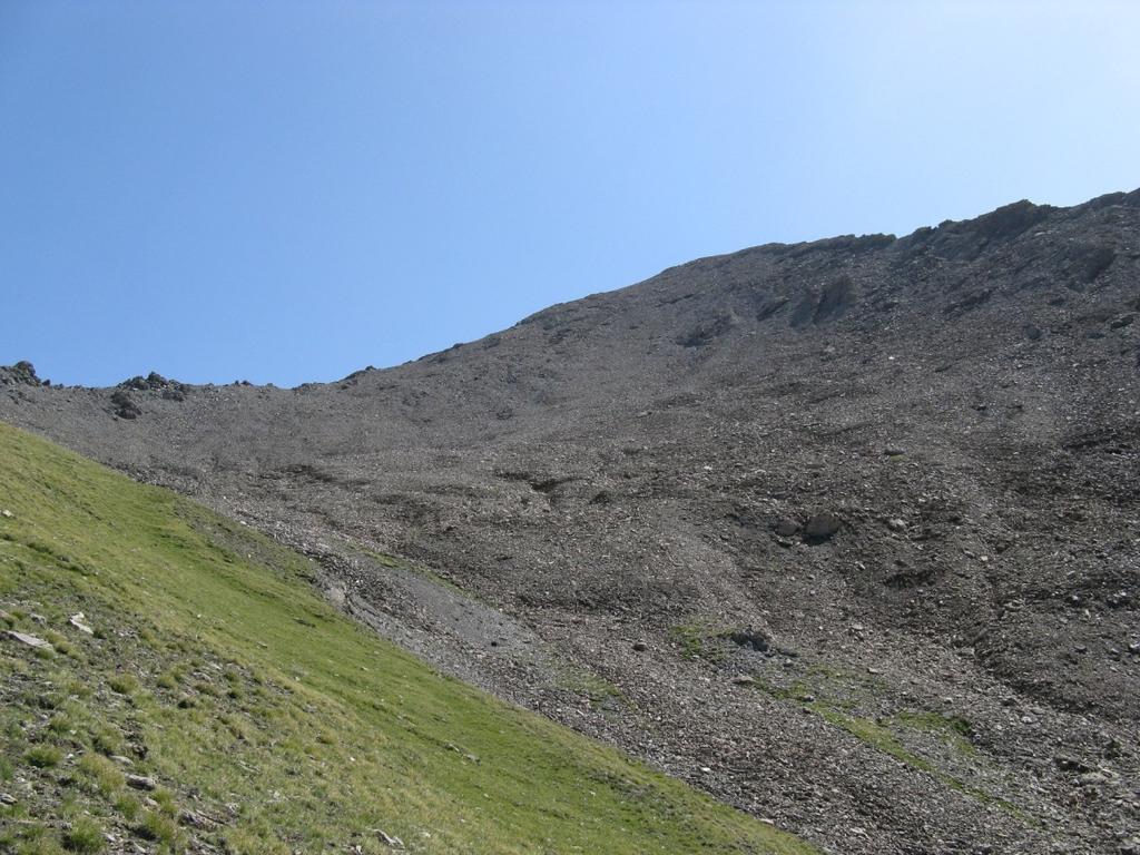 La cresta che si percorre dal colle alla cima