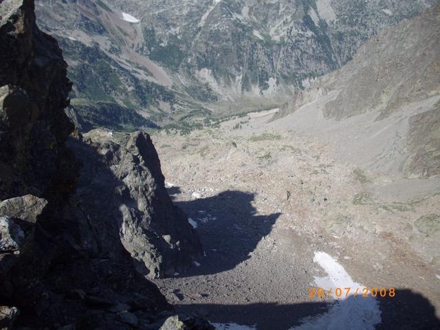 la Querzola proietta la sua ombra nel vallone