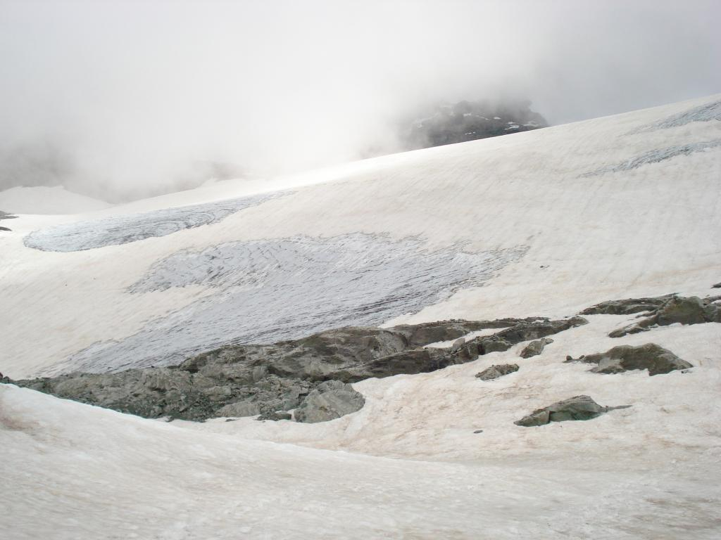 il ghiacciaio dell'Uia di Ciamarella