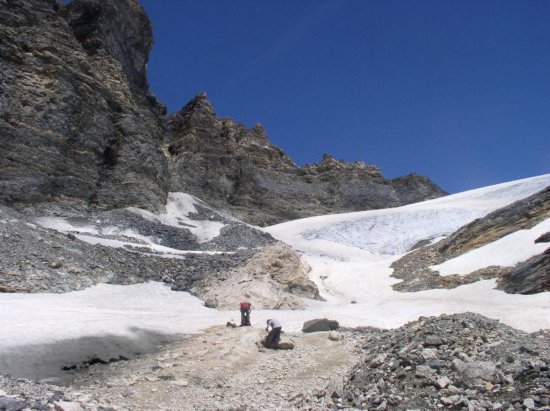 l'attacco del ghiacciaio