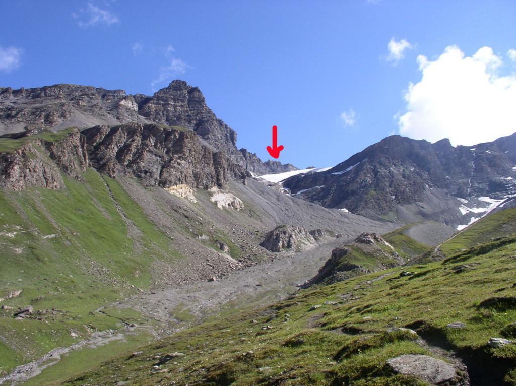 l'attacco del ghiacciaio di Basagne