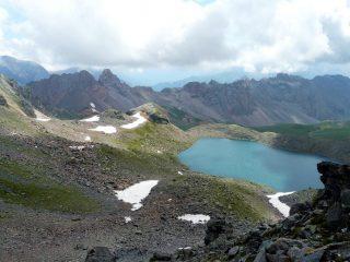 Il lac blanc visto dalla cima