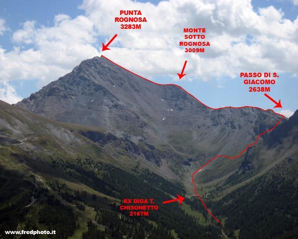 Il monte e il percorso.