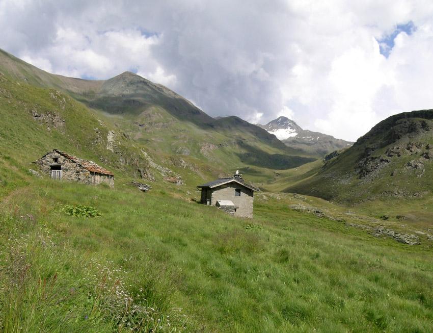 Visione della Tersiva dall'alpe Pralognan