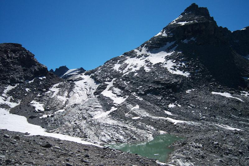 Quello che resta del ghiacciaio di Punta Foura