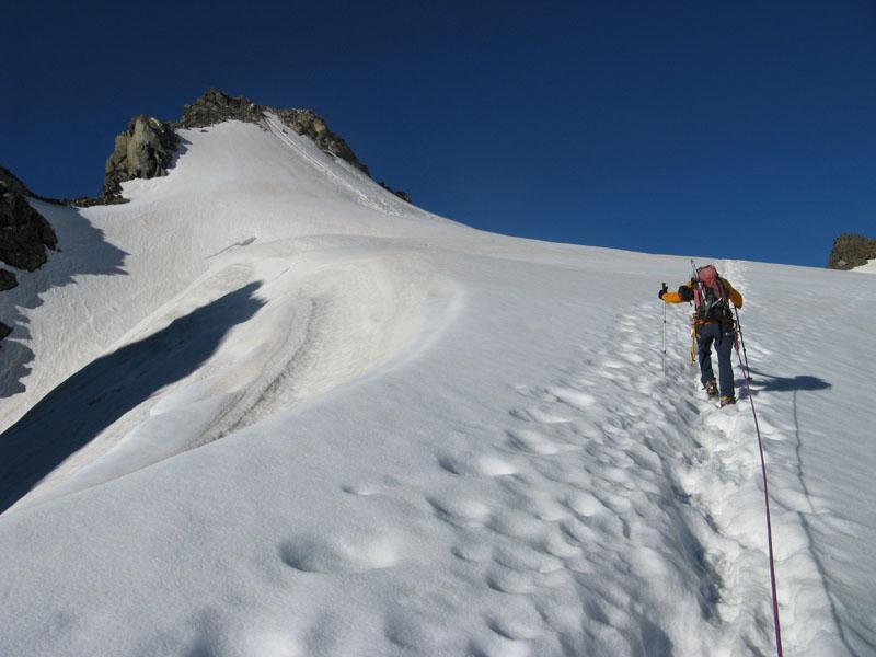 Lungo il ghiacciaio di Valsorey